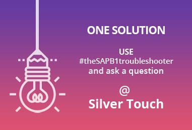 SAP B1 Troubleshooter