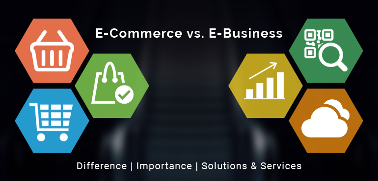 ECommerce and EBusiness- Difference Importance Solutions & Services
