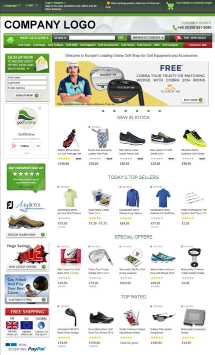 Online eCommerce Store (Sports Equipments)