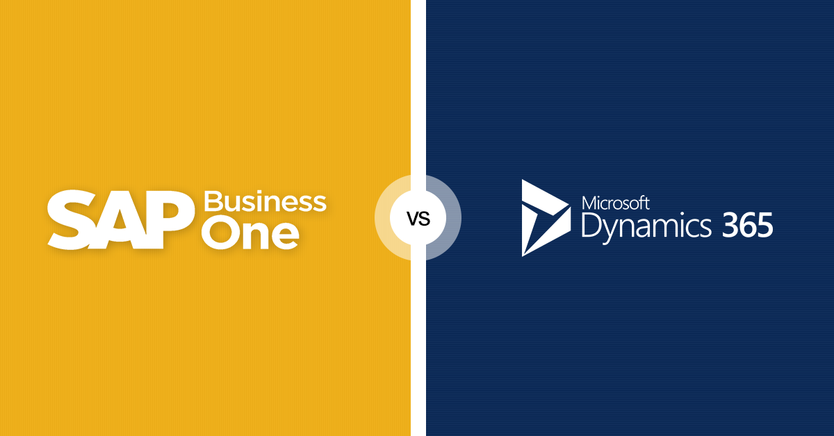 SAP business One vs Microsoft Dynamics 365